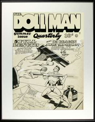 GILL FOX - DOLL MAN QUARTERLY #3 COVER ORIG ART 1942
