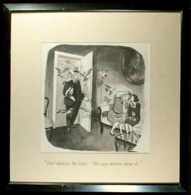CHARLES ADDAMS - THE BIRDS CARTOON ORIGINAL ART