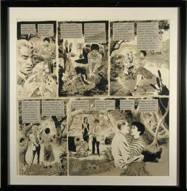 WALLY WOOD - MAD #51 AD SLOGANS ORIG ART GOMEZ ADDAMS