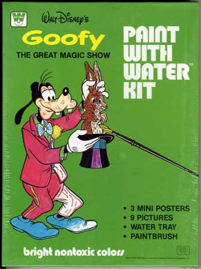 GOOFY WATERCOLOR KIT - UNUSED FILE COPY - 1982