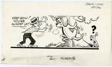 GENE WARD - NEWSPAPER CARTOON ORIG ART DOGS 9-6-66