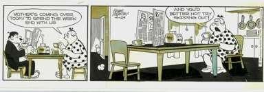 FRANK ROBERGE -MRS. FITZ'S FLATS DAILY ORIG ART 4-24-69