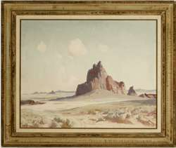 "FREEMONT ELLIS - ""DESERT FORMS"" Oil circa 1950"