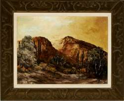 ALICE RAY - Orig MOUNTAIN LANDSCAPE Painting