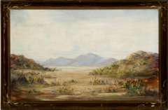 A.W. BROWNE - PRARIE MOUNTAINS ORIGINAL PAINTED ART