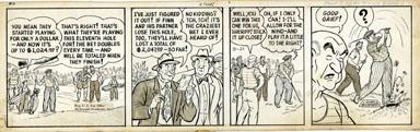 LANK LEONARD - MICKEY FINN DAILY ORIG ART - GOLF WAGER