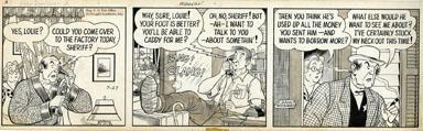 LANK LEONARD - MICKEY FINN DAILY ORIG ART PESSIMISTIC