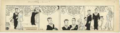 CHIC YOUNG -BLONDIE DAILY STRIP ORIG ART 3-11-31 TUXEDO