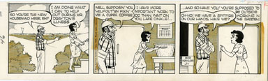BOB NAYLOR - BIG SISTER DAILY STRIP ORIG ART 3-1-65