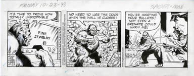 LARRY LIEBER - SPIDER-MAN DAILY ART 10-23-98 GORILLA