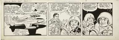 ZACK MOSLEY - SMILIN' JACK DAILY STRIP ORIG ART 7-1-50