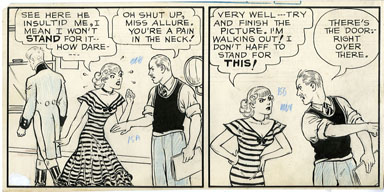 MO LEFF - JOE PALOOKA PARTIAL STRIP #1 ORIGINAL ART