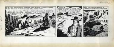 MIKE ARENS - ROY ROGERS DAILY ORIGINAL ART 4-17-50
