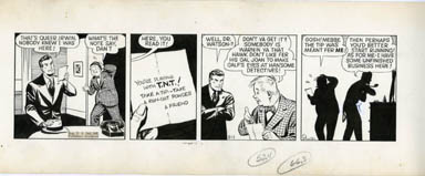 PAUL PINSON - DAN DUNN DAILY STRIP ORIGINAL ART 9-11-42