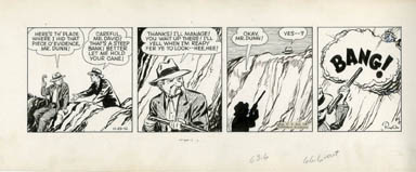 PAUL PINSON - DAN DUNN DAILY STRIP ORIG ART 10-29-42