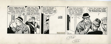 PAUL PINSON - DAN DUNN DAILY ORIGINAL ART 12-01-42
