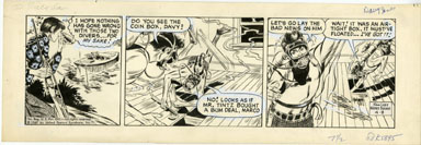 WAYNE BORING - DAVY JONES DAILY STRIP ORIG ART 4-8-69