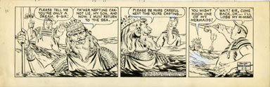 WAYNE BORING - DAVY JONES DAILY STRIP ORIG ART 5-3-69