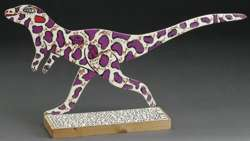 "HOWARD FINSTER - ""LEAPIN' LIZARD"" Carved FOLK ART -1995"