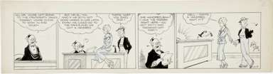 CHIC YOUNG - BLONDIE DAILY STRIP ORIG ART 11-7-31 GRADE
