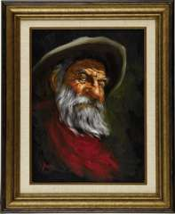 GERALD FARM - COWBOY ORIGINAL PAINTED ART (1973)