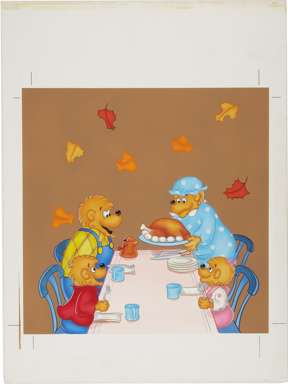 BERENSTAIN BEARS THANKSGIVING ORIGINAL CALENDAR ART