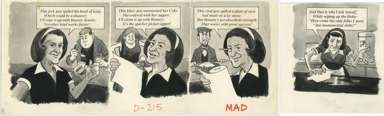 BOB CLARKE - MAD #222 ROSIE WAITRESS / BOUNTY ORIG ART