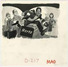 BOB CLARKE - MAD #222 HERTZ O.J. SIMPSON ORIG ART
