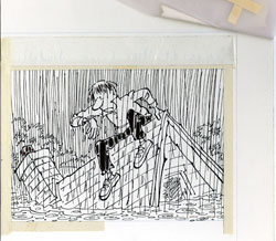 PAUL COKER - MAD #285 RAIN RAIN FLOODED HOUSE ORIG ART