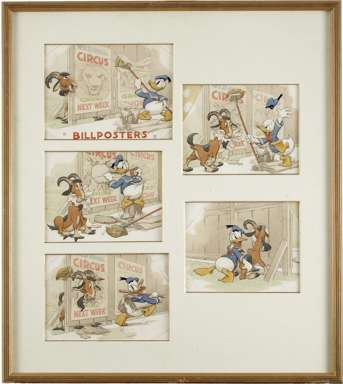 TOM WOOD - DONALD DUCK BILLPOSTERS (GH) ORIG ART 1940