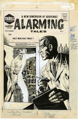 JOHN SEVERIN - ALARMING TALES #5 COVER ORIGINAL ART