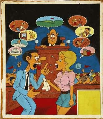 JAY LYNCH - MIDWEST MAGAZINE DIVORCE COURT ORIGINAL ART