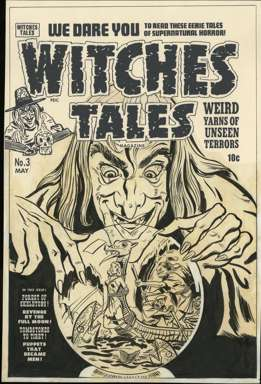 AL AVISON - WITCHES TALES #3 Orig Cover art - BONDAGE!