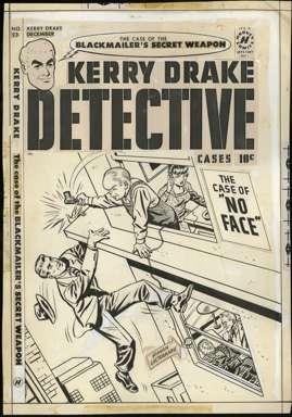 AL AVISON - KERRY DRAKE DETECTIVE #23 Orig Cover art