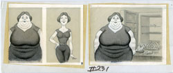 AL JAFFEE - MAD #231 PHOTOS: BEFORE/AFTER DIET ORIG ART