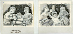 AL JAFFEE - MAD #231 PHOTOS: CHRISTMAS MORNING ORIG ART