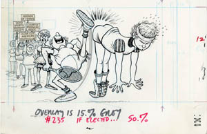 AL JAFFEE - MAD #235 ELECTED: JOHN McENROE (TENNIS) ART