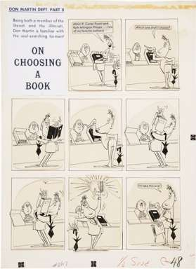 DON MARTIN - MAD #46 CHOOSING A BOOK 1-PG STORY ART '59