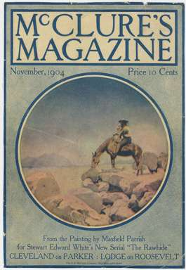 MAXFIELD PARRISH - McCLURE'S MAGAZINE Cover Nov 1904