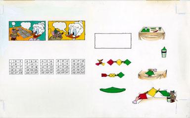 DISNEY ACTIVITY BOOK: MAGIC PGS 28/29 ORIG ART GRANDMA