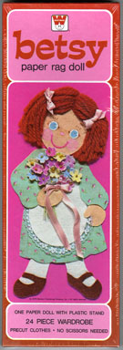 BETSY PAPER RAG DOLL SET w/BOX (1979) FACTORY-SEALED