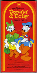 DONALD DUCK & DAISY PAPER DOLL SET w/BOX DISNEY PRE-CUT