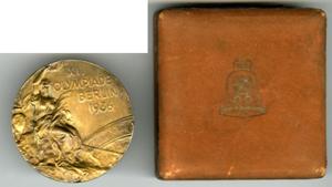 1936 BERLIN OLYMPICS GOLD MEDAL / DIVER MARSHALL WAYNE