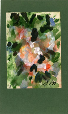 JOSEPHINE MAHAFFEY - ABSTRACT FLOWERS Original Watercolor image