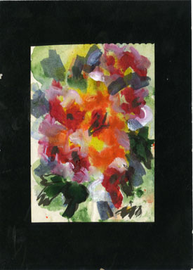 JOSEPHINE MAHAFFEY - ABSTRACT FLOWERS 2 ORIG ART WTRCLR