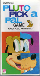PLUTO PICK A PAL GAME (1971) DISNEY MICKEY MOUSE DONALD