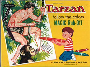 TARZAN FOLLOW THE COLORS MAGIC RUB-OFF - Random House