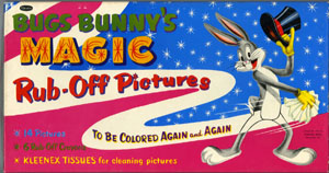 BUGS BUNNY'S MAGIC RUB-OFF PICTURES SET (1955) RH Arch