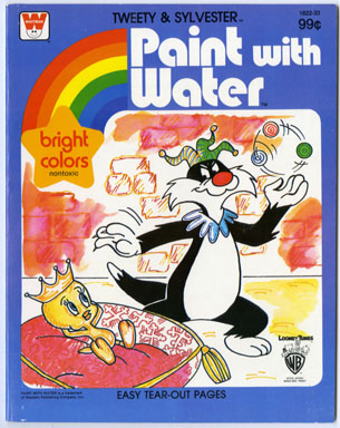 TWEETY & SYLVESTER - PAINT W/WATER BOOK (Whitman, 1982)