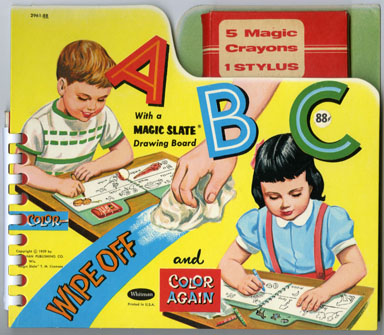 A-B-C MAGIC SLATE DRAWING BOARD/BOOK - RANDOM HOUSE
